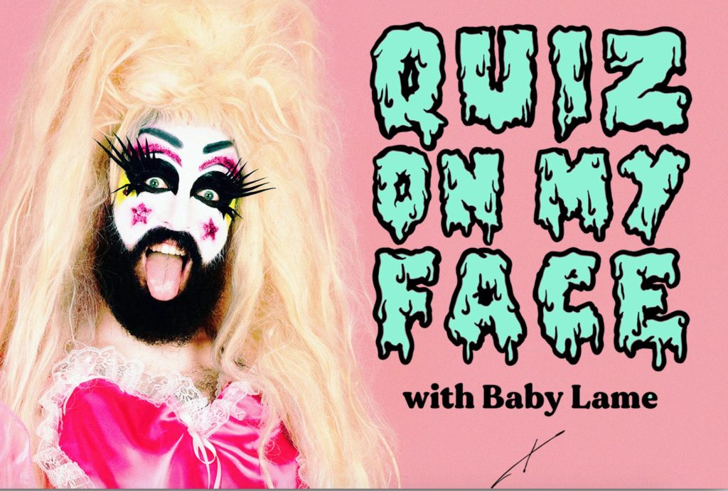 quiz on my face with baby lame at the glory