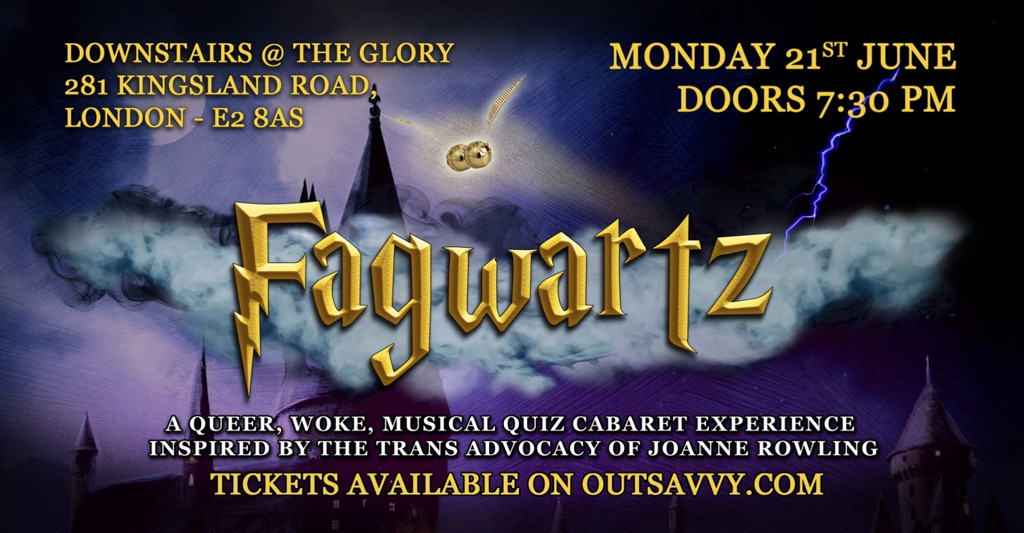 F*GWARTZ: A queer, musical quiz cabaret experience inspired by the trans advocacy of Joanne Rowling