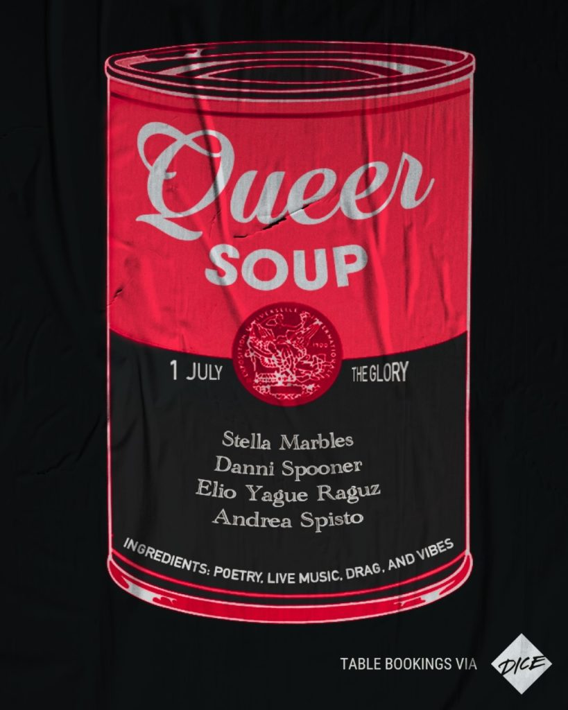 queer soup at the glory