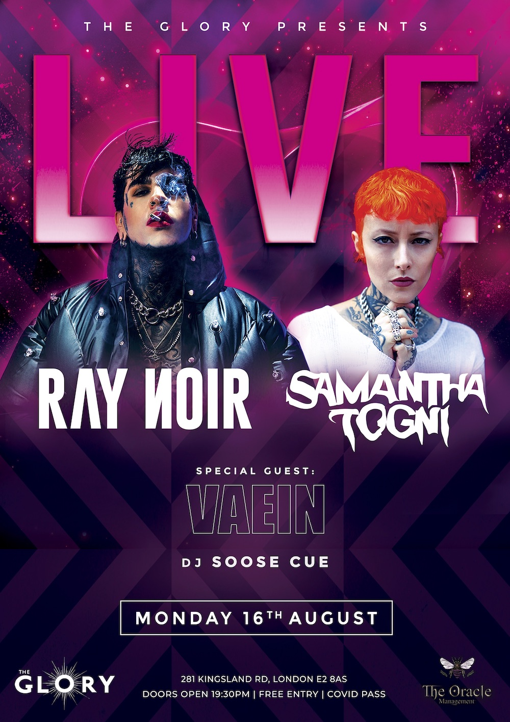 LIVE with Ray Noir & Samanthat Togni